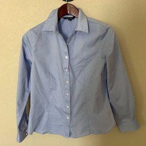 Ellen Tracy No-Iron LS Powder Blue Cotton Shirt